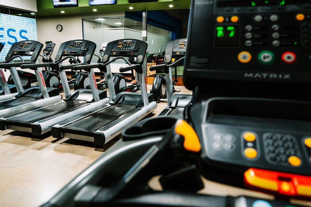 Room full of treadmills